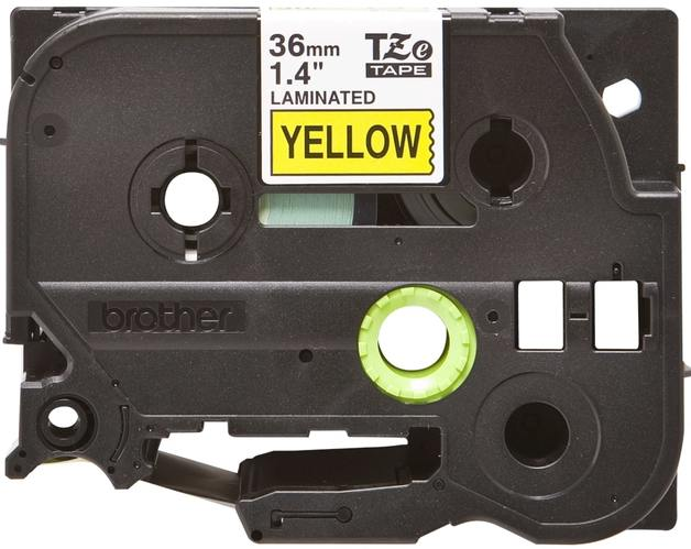 Brother TZe-661 Tape - Black on Yellow (36mm x 8m)