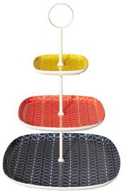 Orla Kiely Ceramic 3 Tier Cake Stand - Linear Stem