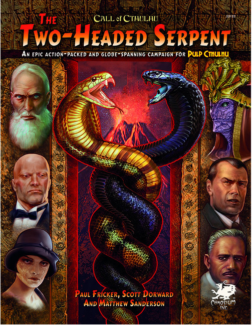 Call of Cthulhu RPG The Two Headed Serpent by Paul Fricker