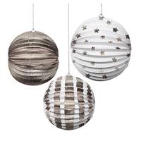 Silver Foil Globes