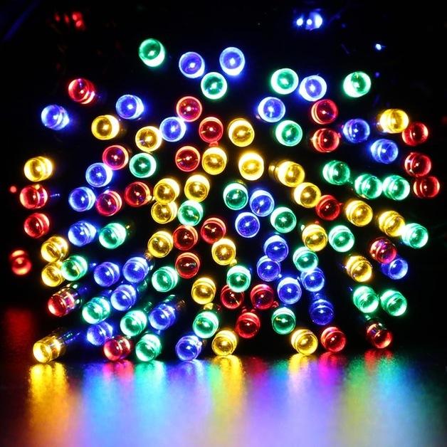 Solar String Lights - 200 LED Multicolour Fairy Lights