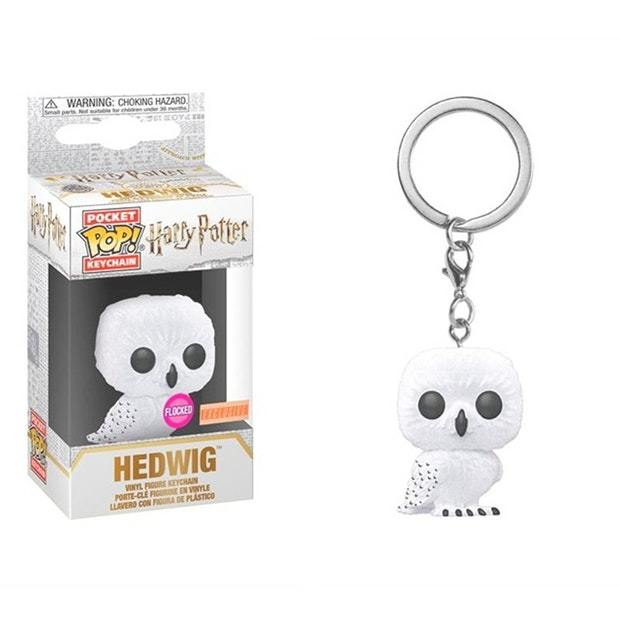 Harry Potter - Hedwig Flocked Pocket Pop! Keychain