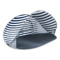 Manta Pop Up Sun Shelter - Navy/White Stripes