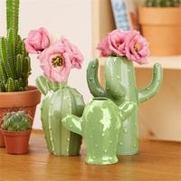 Two's Company Cactus Bud Vases
