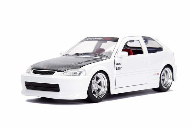 Jada 1/24 '97 Honda Civic EK Type R White - Diecast Model