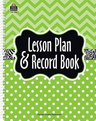 Lime Chevron and Dots Lesson Plan & Record Book by Teacher Created Resources