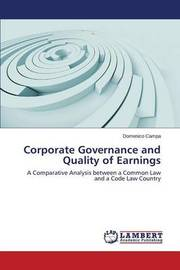Corporate Governance and Quality of Earnings by Campa Domenico