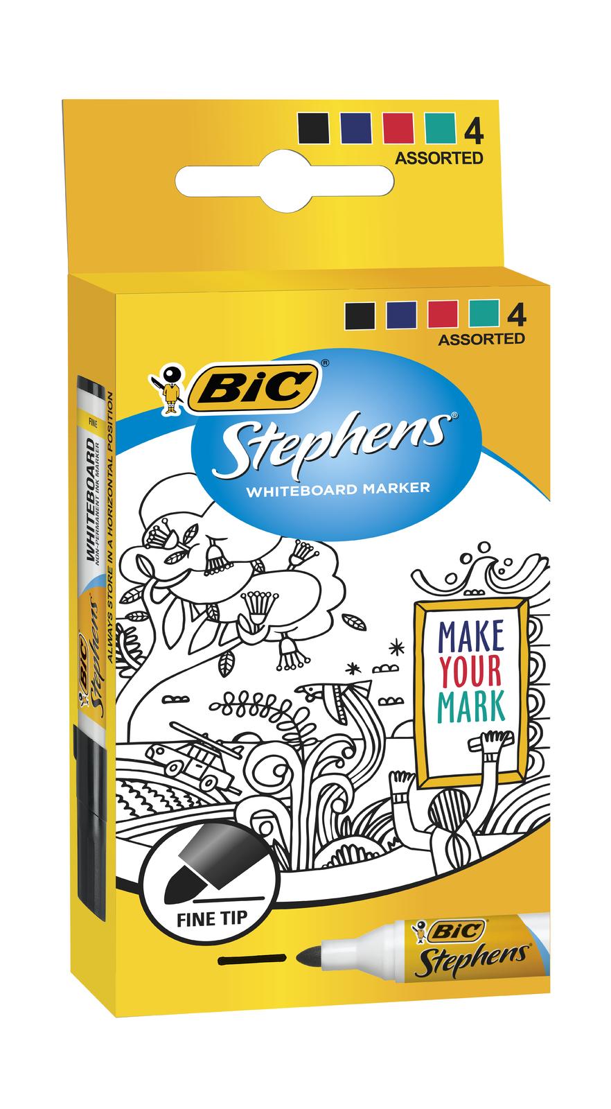 Bic: Whiteboard Marker - Fine Tip (Pack of 4) image