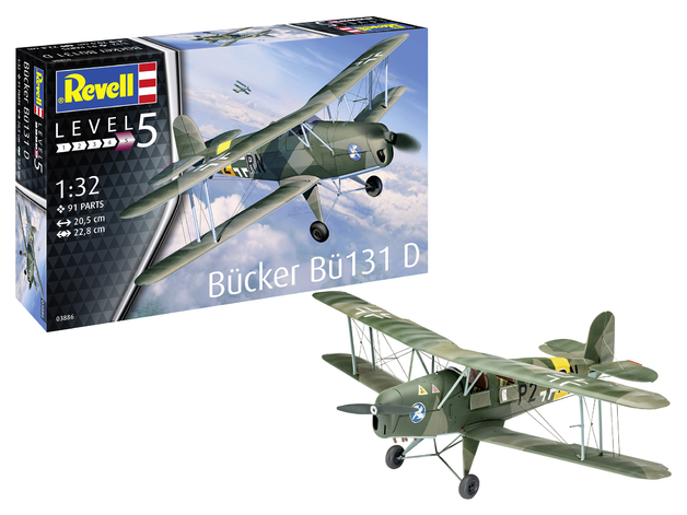 Revell: Buuker BI131 D (Jungmann) - 1:32 Scale Model Kit