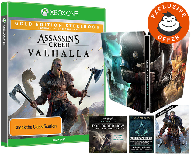 Assassin's Creed Valhalla Gold SteelBook Edition for Xbox One