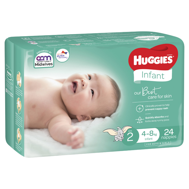 Huggies: Infant Nappies - Size 2 (24 Pack)
