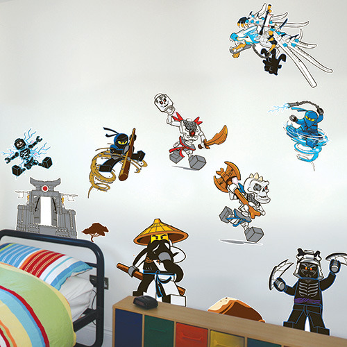 Lego wall stickers set ninjago images at mighty ape for Kinderzimmer ninjago