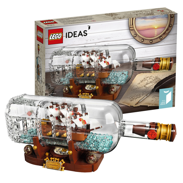 Lego Ideas Ship In A Bottle 21313 Toy At Mighty Ape Nz