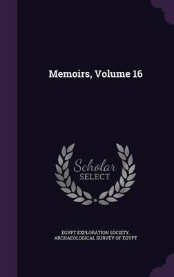 Memoirs, Volume 16 image