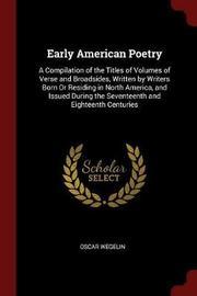 Early American Poetry by Oscar Wegelin image