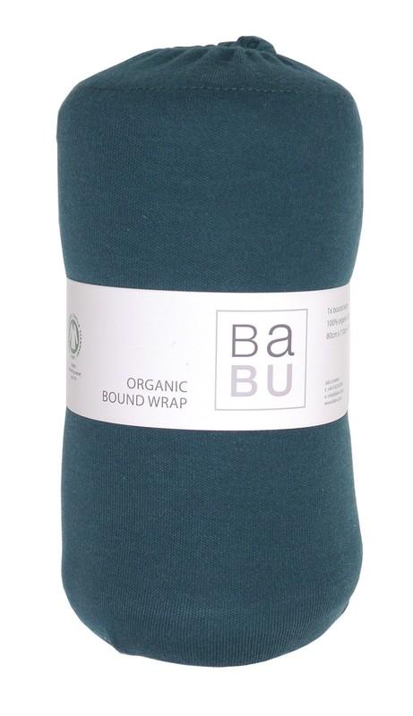 Babu: Organic Cotton Bound Wrap - (Tui Green)