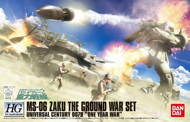 HGUC 1/144 MS-06 Zaku The Ground War Set - Model Kit