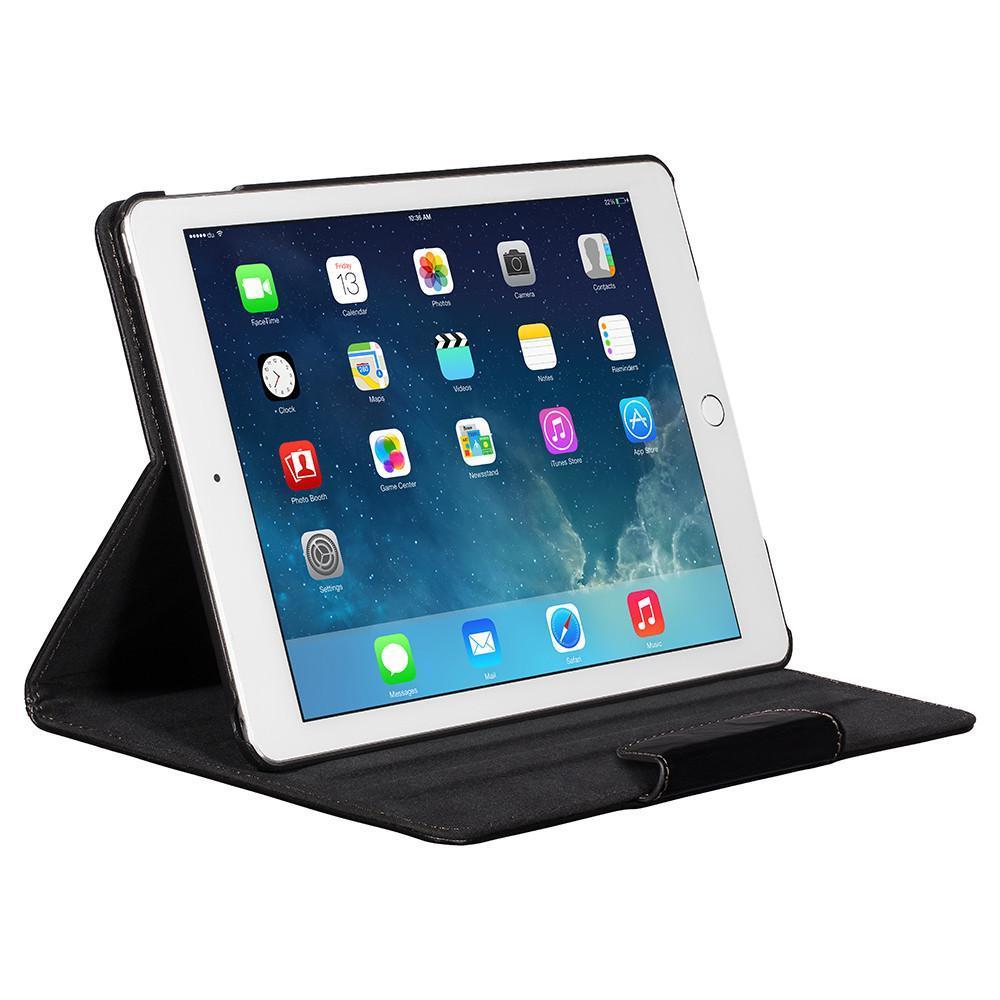 NVS: Premium Leather Folio For iPad Mini 4 (Black/Black) image