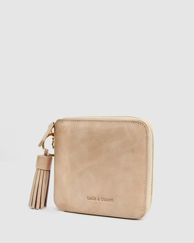 Belle and Bloom: Nora Leather Wallet - Latte