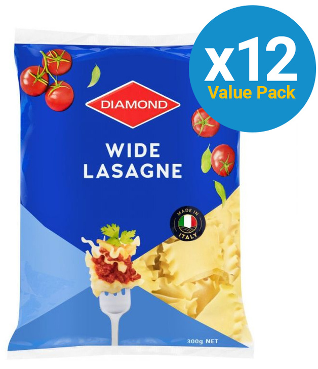 Diamond: Wide Lasagne 300g (12 Pack)