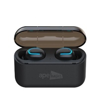 Ape Basics True Wireless Bluetooth Sports and Gaming Earbuds - Black