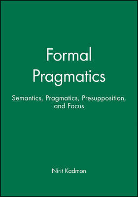 Formal Pragmatics by Nirit Kadmon image