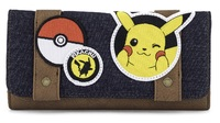 Loungefly: Pokemon Pikachu (Patches) - Canvas Flap-Wallet