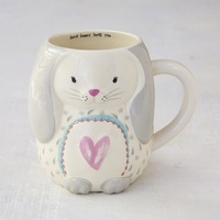 Natural Life: Ceramic Folk Mug - Bunny