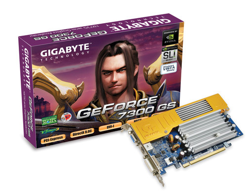 GIGABYTE GV-NX73G256-RH GeForce 7300GS PCI-EX16