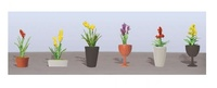 JTT: HO Scale Assorted Flower Pots #2 - 6 Pack
