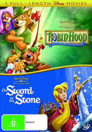 Robin Hood (1973) / Sword In The Stone (1963) (2 Disc Set) on DVD image