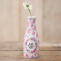 Natural Life: Floral Bud Vase - Best Mom Ever