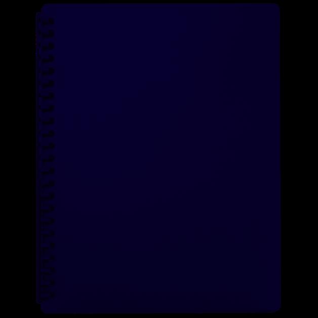 FM: A4 Refillable Display Book - Blue (20 Pocket)