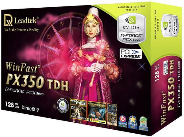 Leadtek Graphics Card WinFast PX350 TDH 128M PX5900 PCIE