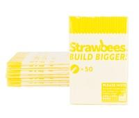 Strawbees Straws Refill Yellow (50pk)