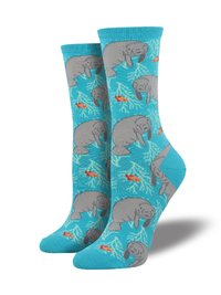 Womens - Oh The Hu-Manatee Crew Socks