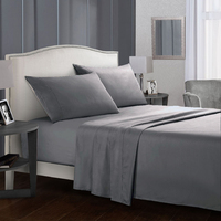 Fraser Country: Premium Microfibre King Single Bed Sheet Set - Charcoal
