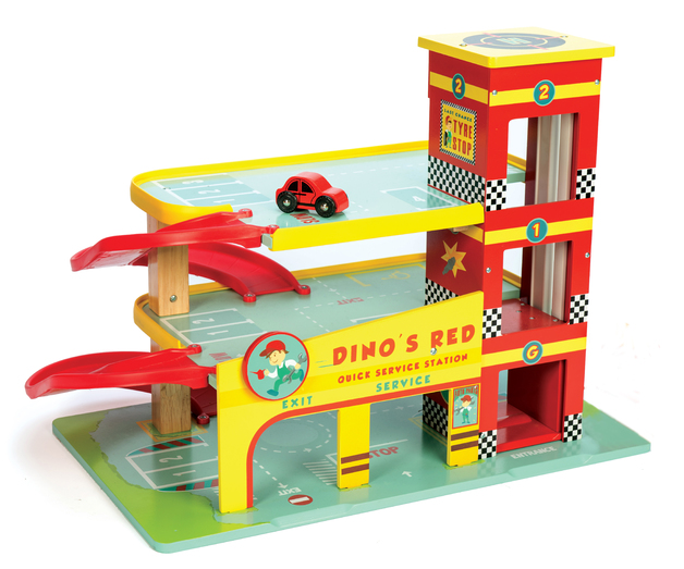 Le Toy Van: Dino's Red Garage