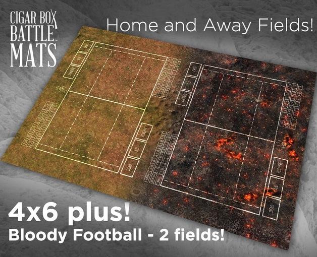 Cigar Box Mat: Bloody Football Cloth Mat (6x4 Plus)
