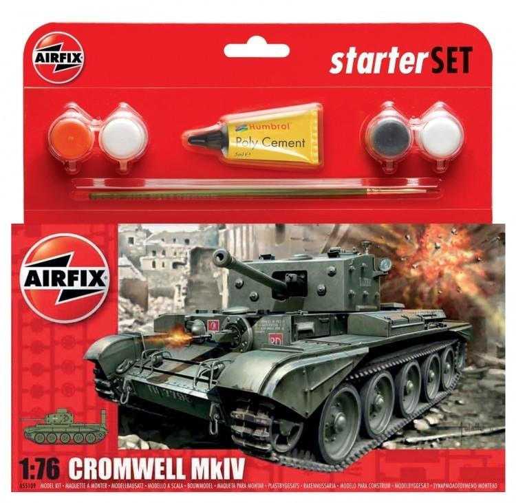 Airfix Cromwell MkIV Tank Starter Set 1/76 Model Kit image