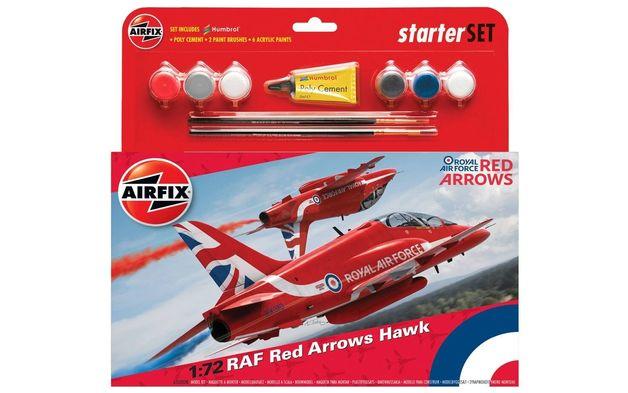 Airfix RAF Red Arrows Hawk Starter Set 1/72 Model Kit