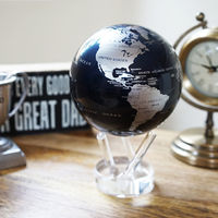 MOVA Self Rotating Globe Silver/Black - 11.5cm image