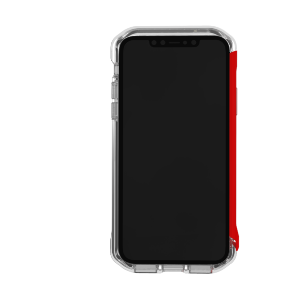 Element: Case Rail iPhone 11 Pro - Clear/Solid Red