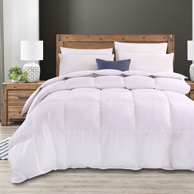 Royal Comfort Goose Feather Quilt & Two Pillow Combo Set - Double