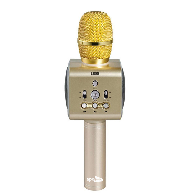 Ape Basics: Colorful LED Wireless Bluetooth Karaoke - Gold