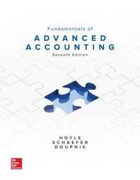 Fundamentals of Advanced Accounting by Joe Ben Hoyle