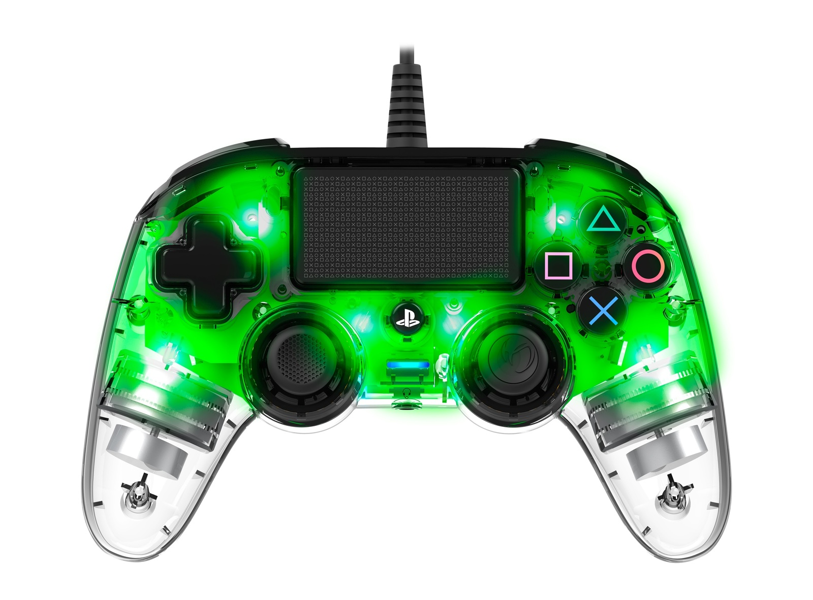 Nacon PS4 Illuminated Wired Gaming Controller - Light Green for PS4 image