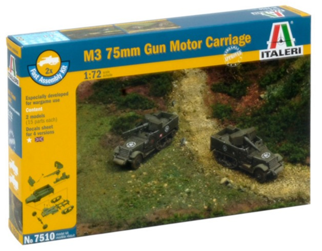 Italeri: 1/72 M3 76mm Gun Motor Carriage - Fast Assembly Kit