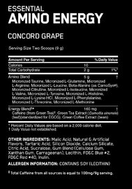 Optimum Nutrition Amino Energy Drink - Concord Grape (30 Serves)