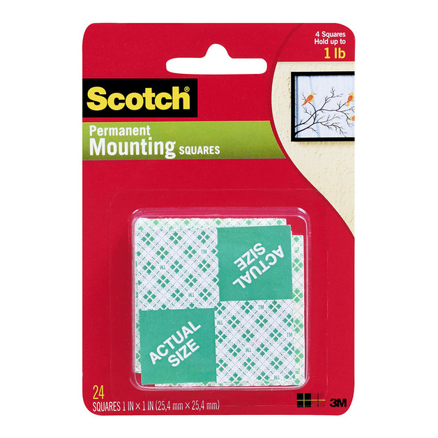 Command: Scotch Indoor Mounting Squares 111 - 24 Pack/25x25 mm Pkt